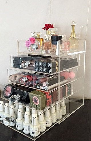 Acrylic Makeup Organizer 5 Drawers Round By AcrylicOrganizers. Acrylic  Makeup OrganizersClear ...