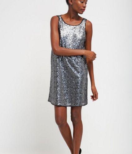 Tom Tailor Denim Sukienka srebrna prosta black