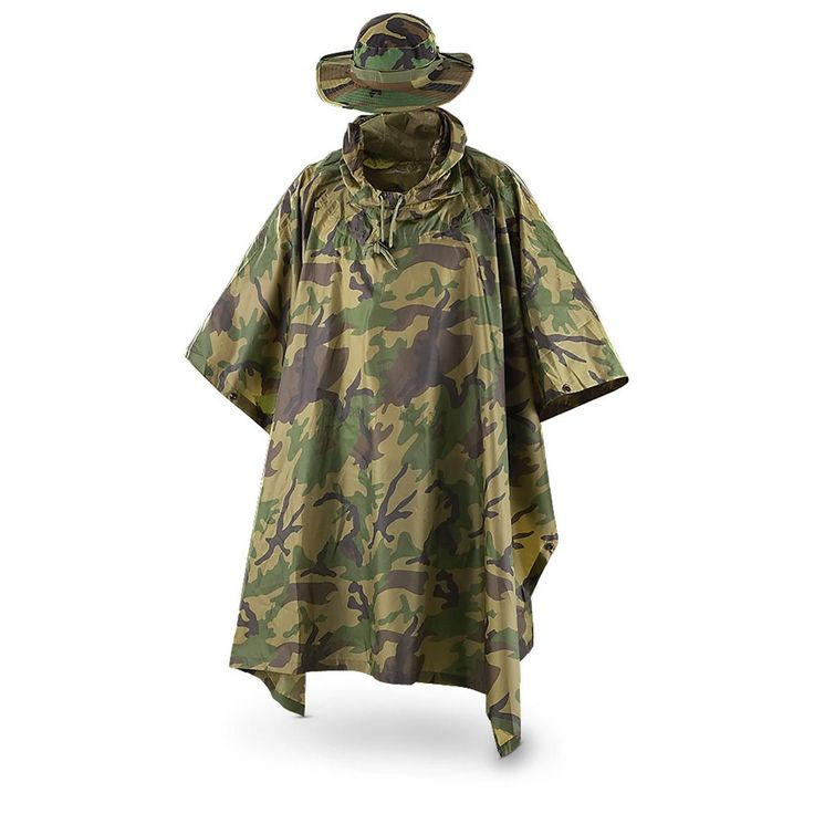 fox tactical poncho and boonie cap 868448 rainwear on uninsulated camo overalls for men id=56147