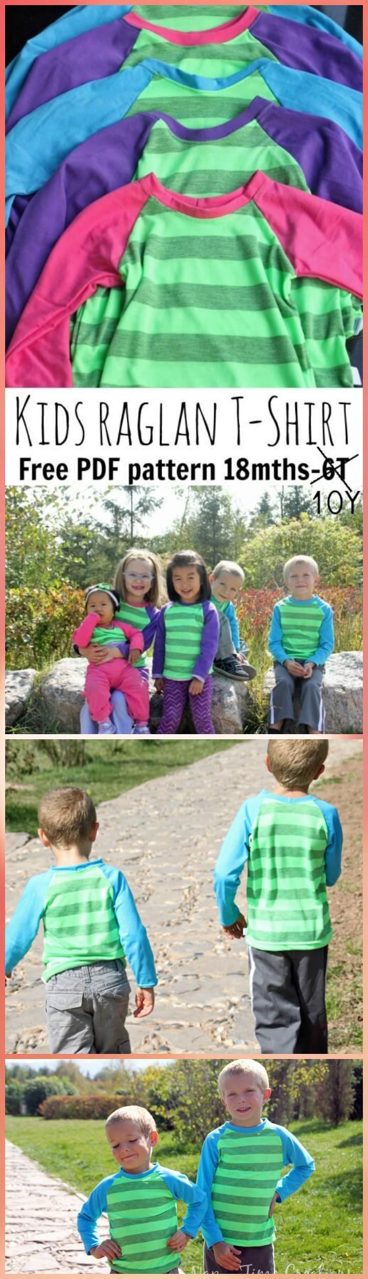 Kids easy raglan t-shirt pattern - Top 40 Free T-Shirt Sewing Patterns for Women & Kids - Page 3 of 8 - DIY & Crafts