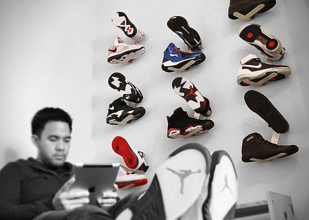 Shrine Shoe Rack    A sneakerhead's dream.
