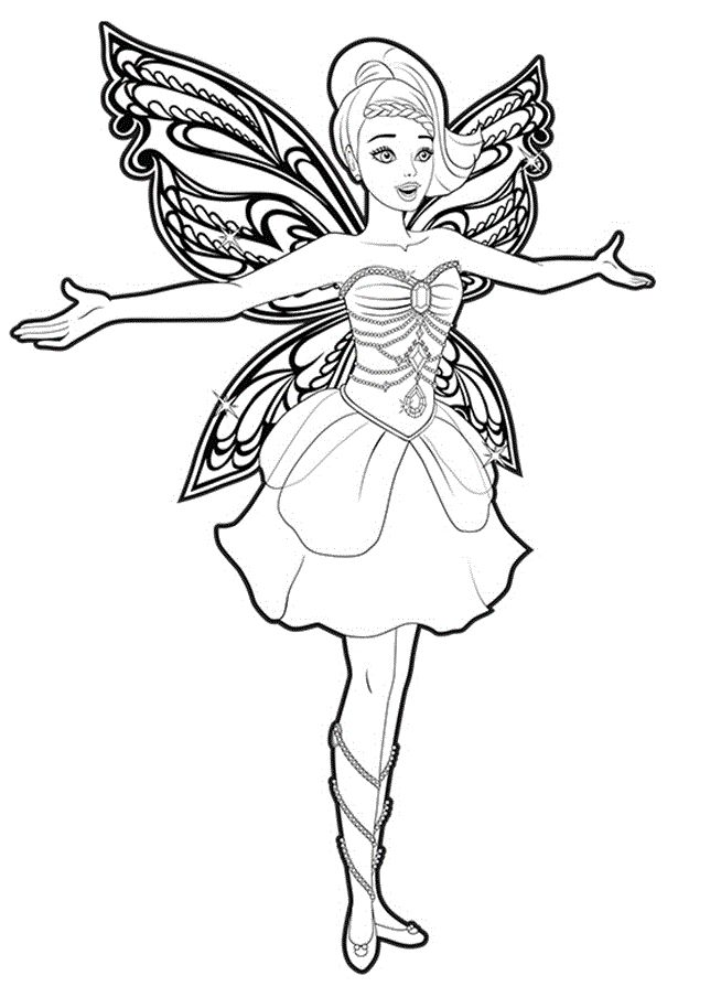 barbie butterfly coloring pages - photo#9