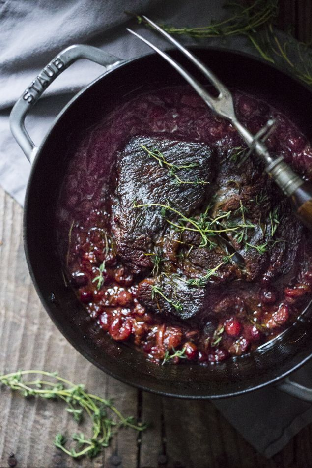 Cranberry Pot Roast ...made with fresh cranberries and port