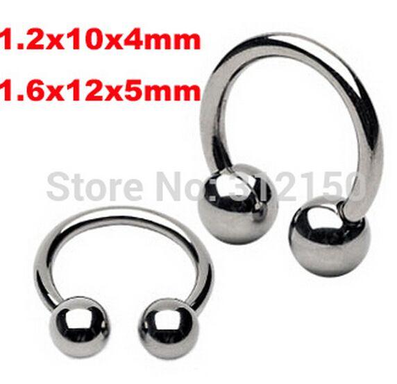 Серебро нержавеющая сталь циркуляр штанги подкова кольцо в носу губы кольцо, Козелка кольцо пирсинг серьги кольцо в носу