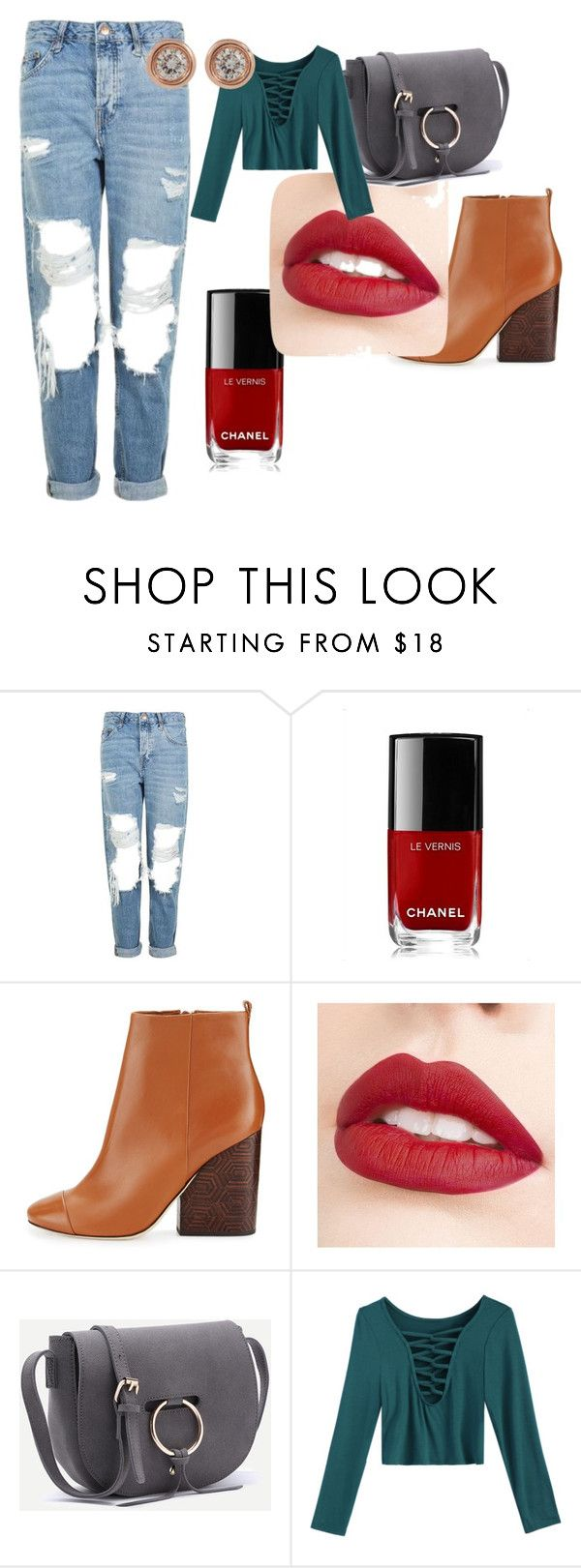 """""""autumn day look"""" by rosamackenzie on Polyvore featuring Topshop, Chanel, Tory Burch, Jouer and Ron Hami"""
