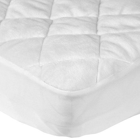 Micro Fresh Velour Quilted Cot Mattress Protector