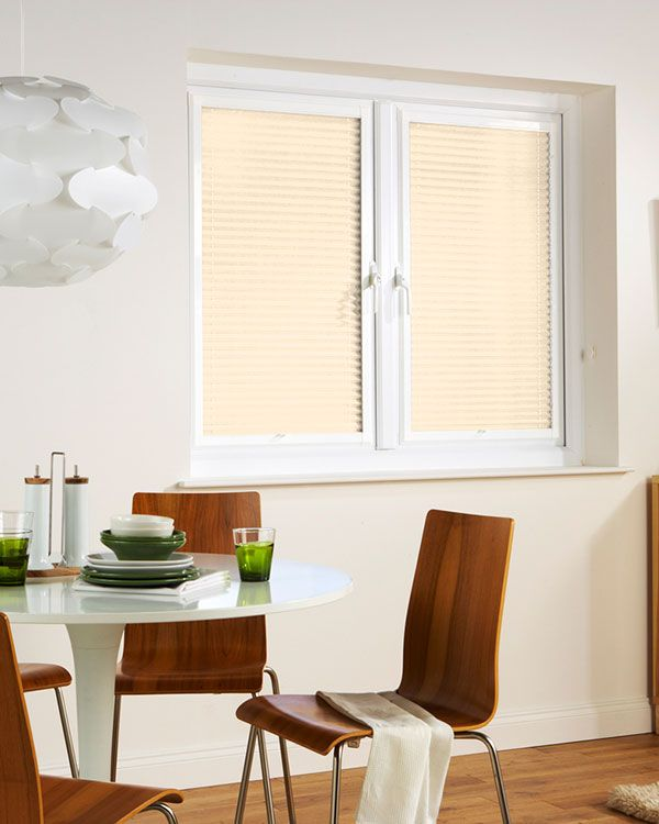 Window Wizz Pearl White Pleated Blinds