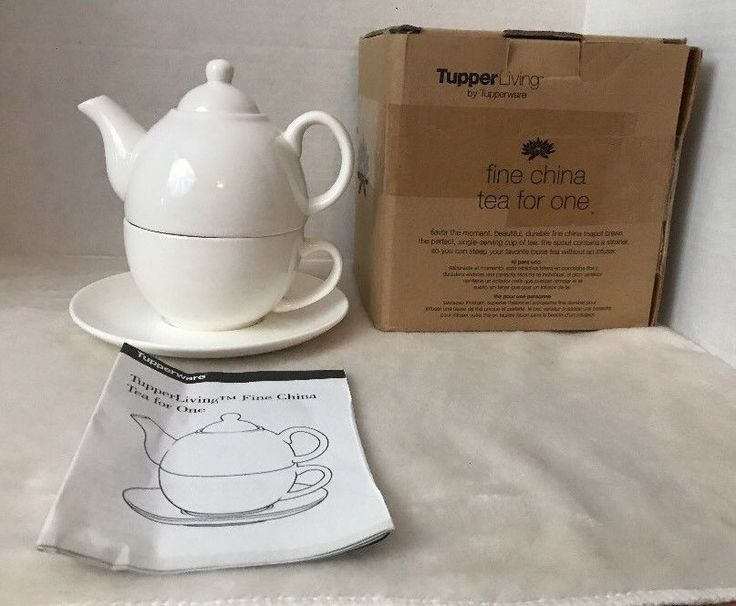 TupperLiving Tupperware Teapot Fine China Tea for One New Holiday Gift    eBay