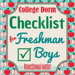 college dorm checklist for freshmen boys