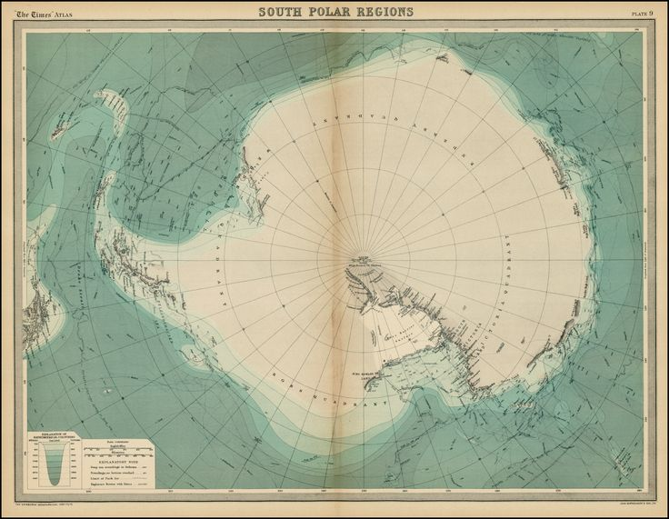 South Polar Regions // Times Atlas 1922