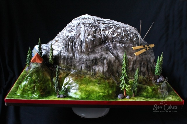 3D Mountain Cake add helicopter