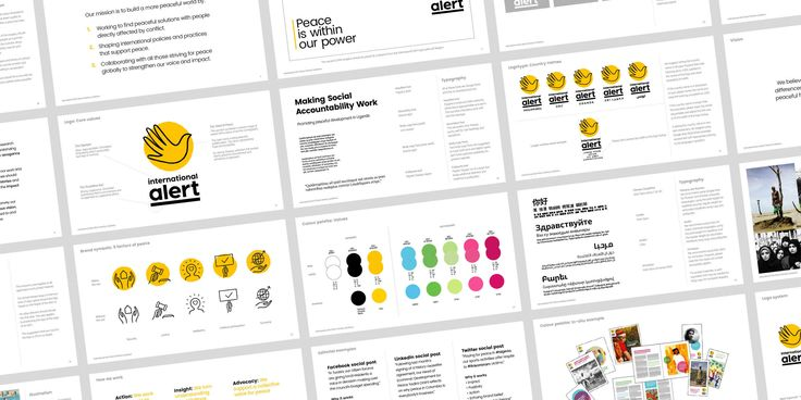 International Alert brand guidelines by Human After All