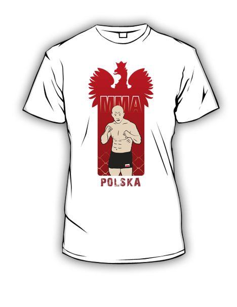 Koszulki mma z godłem polskim. Koszulki stworzone z myślą o zawodnikach oraz wniesienia odrobiny polskości na światowe maty mma