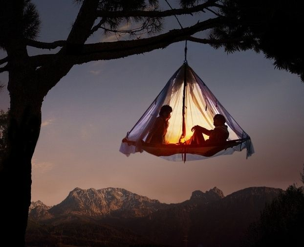 Need to do this with a special person: Gardens Beds, Buckets Lists, Trees Tent, Hanging Beds, Trees Houses, Gardens Swings, Hanging Tent, Chairs Ideas, Hanging Gardens