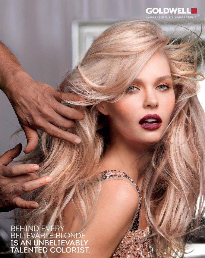 Beautiful blonde tones. Goldwell Color Campaign 2013 #hair #goldwell #blonde #style