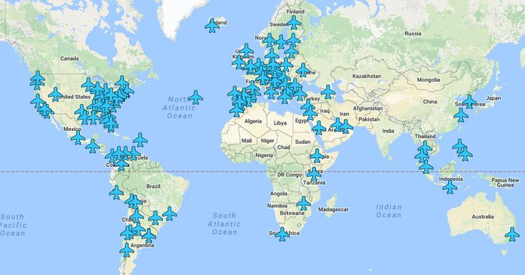 Wi-Fi passwords from airports around the world in one brilliant map - The map we never knew we needed.