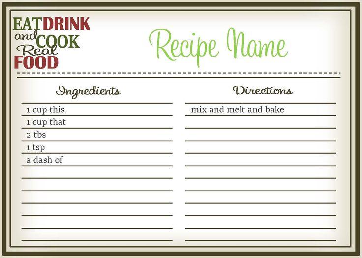 Modern Recipe Template