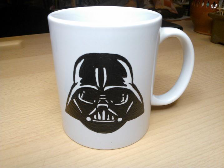I paint this darth vader mug
