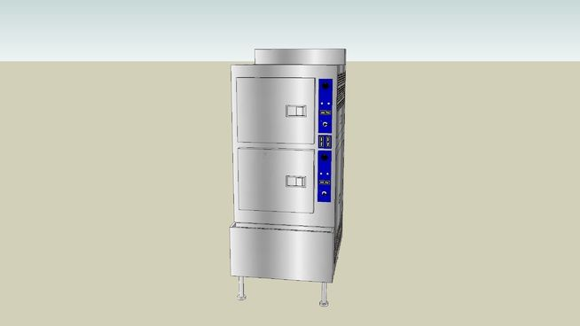Large preview of 3D Model of Steamer - Professional 2 Cabinet