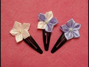 Olá a todos, neste vídeo vemos como fazer este bonito grampo de cabelo de flor kanzashi. É acessório de cabelo perfeito para uma ocasião especial ou penteado de todos os dias. Aproveite este tutorial.                                                                                                                                                                                 Mais