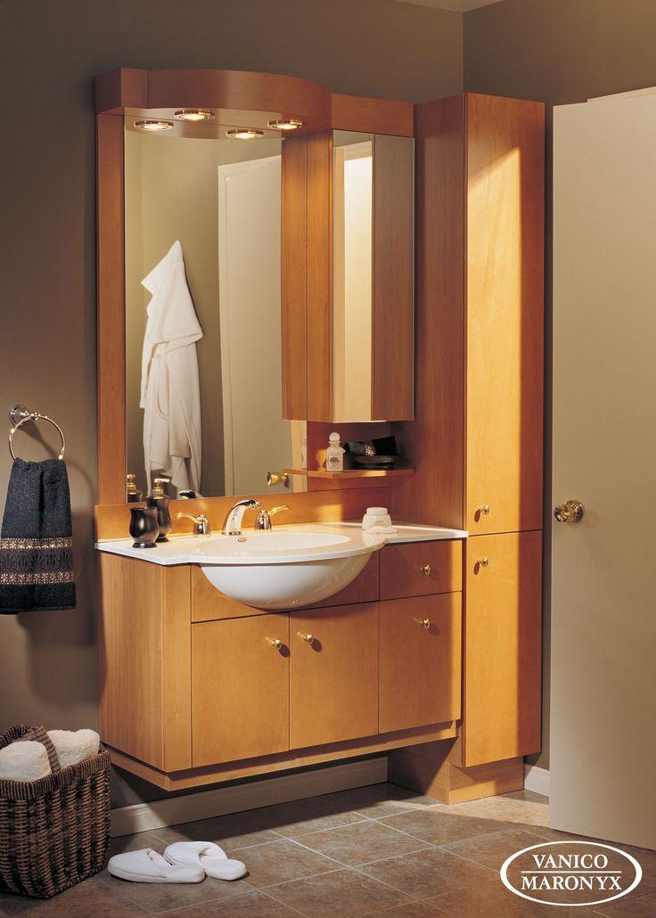 Simple stylish wall mount vanity by vanico maronyx for Bathroom cabinets montreal