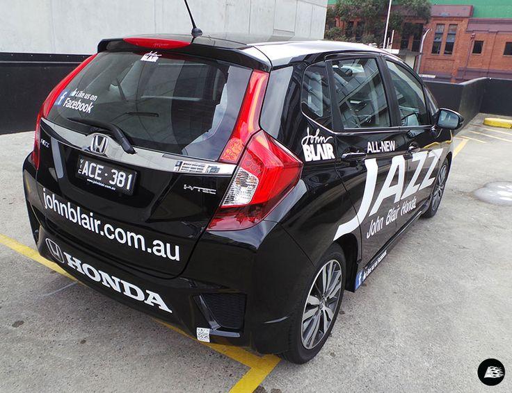 Honda Jazz, vehicle decals #honda #vehicledecals #reflective #johnblair