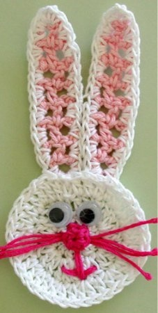 Easter Basket Applique - Bunny Face [FP217] - $0.00 : Maggie Weldon, Free Crochet Patterns