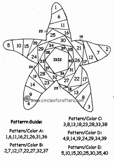 Printable Pattern For Starfish