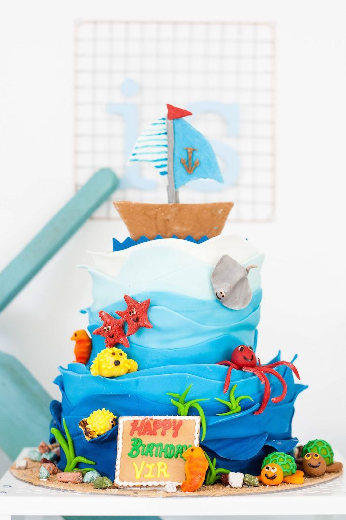 Beach Bash 4th Birthday Party via Kara's Party Ideas KARASPARTYIDEAS.COM Full of party ideas, decor, tutorials, desserts, games and more! #beachparty #beachbash #beachbirthdayparty #beachpartydecor #beachpartyideas (9)
