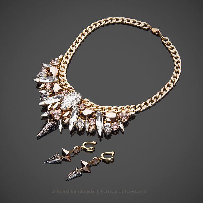 «Starlight» колье из кристаллов Swarovski - Татьяна Rimel Попутникова