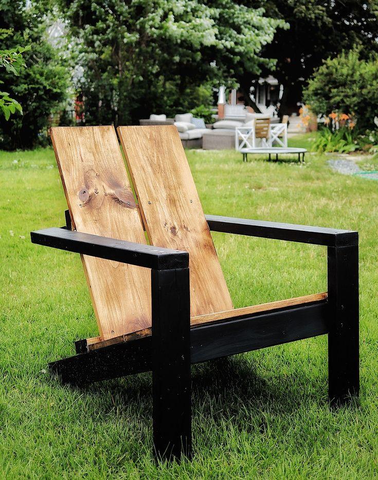 Ana whites 2x4 diy modern adirondack chairs modified