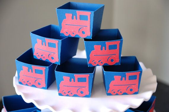 Train Candy Cups Train Party Supplies Train Birthday by GiggleBees
