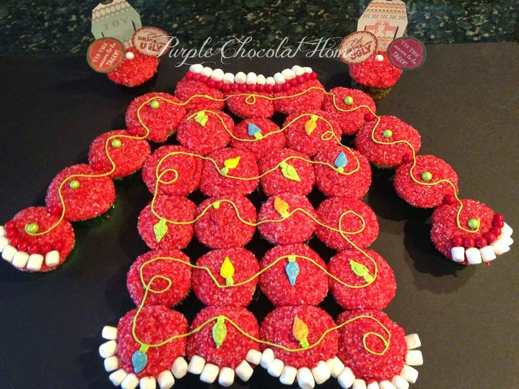 Purple Chocolat Home: Ugly Christmas Sweater Cake and Party