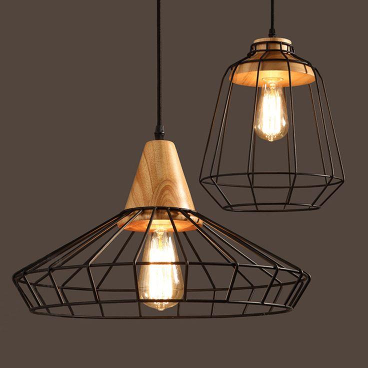 """Винтажный стиль """"Лофт подвесные светильники E27 базы Nordic бар ретро Кофе магазин приспособление металлический абажур промышленное освещение Паук лампы"""