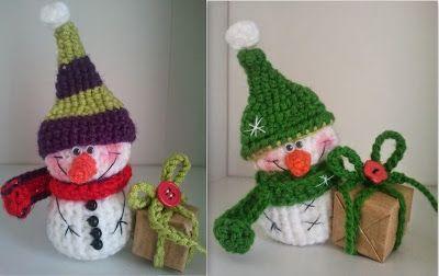 Маленький снеговик | 1000 схем амигуруми на русском