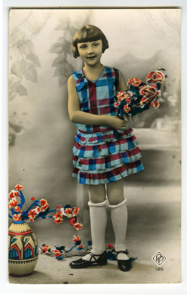 C 1930 винтаж ветреной тип симпатичные молодые девушки французские тонированные фото открытка | eBay