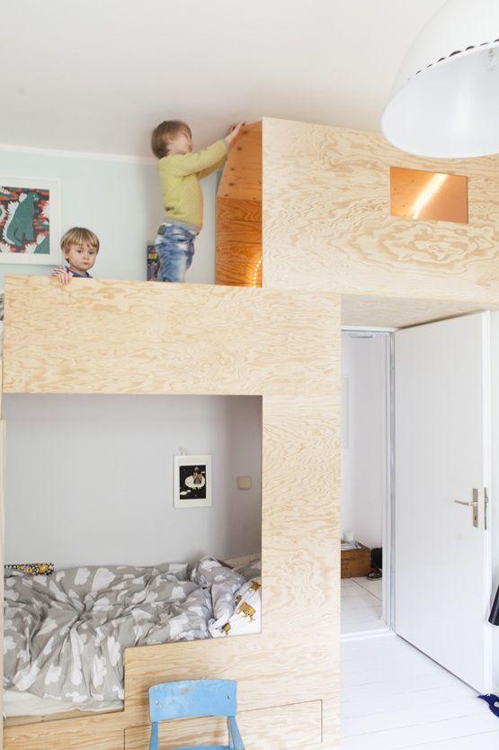 plywood bunk bed by jäll & tofta