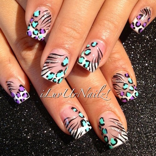 Pink n Whites with some animal print flair!