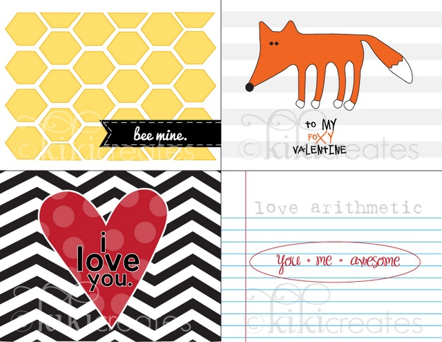 free printable valentine cards for project life