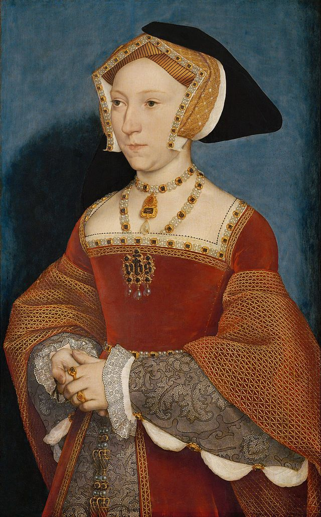 Jane Seymour was King Henry VIII's third wife. She was betrothed to the King only a day after Anne Boleyn's death. She gave birth to Henry's long-awaited son. He grew up to be King Edward VI. Sadly, after giving birth, she became sick. She passed away when she was only about 28. Henry, after his death, was buried with her by his request.