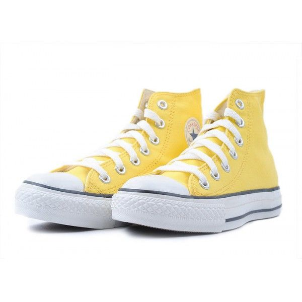 Converse Shoes Yellow Chuck Taylor All Star Classic Hi