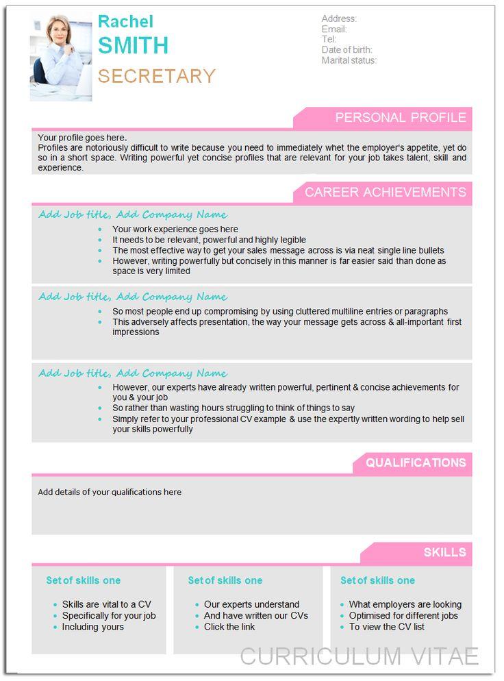 Designer Cv Template Life Coaching Pinterest Curr 237 Culum