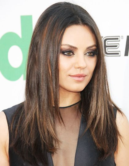 Mila Kunis wears her chocolate look with a hint of caramel. Description from schwarzkopf.co.uk. I searched for this on bing.com/images