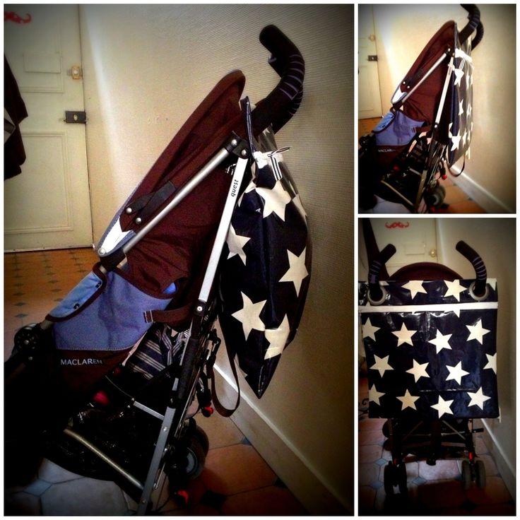 Super easy tutorial. #DIY stroller bag