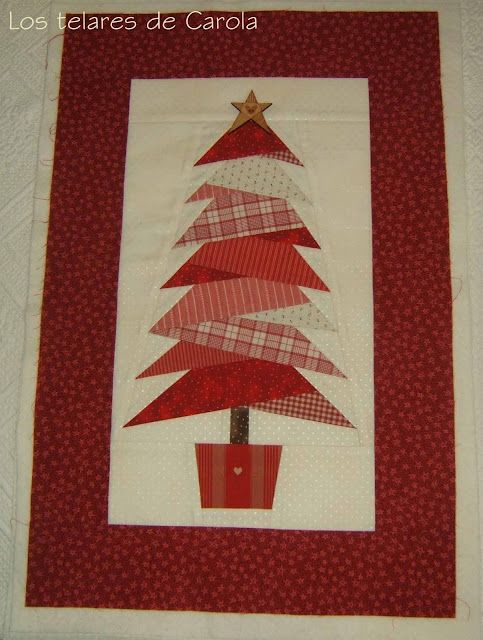 kerstboom: Christmas Cards, Xmas Trees, Wall Hangings, Paper Scrap, Christmas Quilt, Trees Quilt, Tables Runners, Red Christmas, Christmas Trees