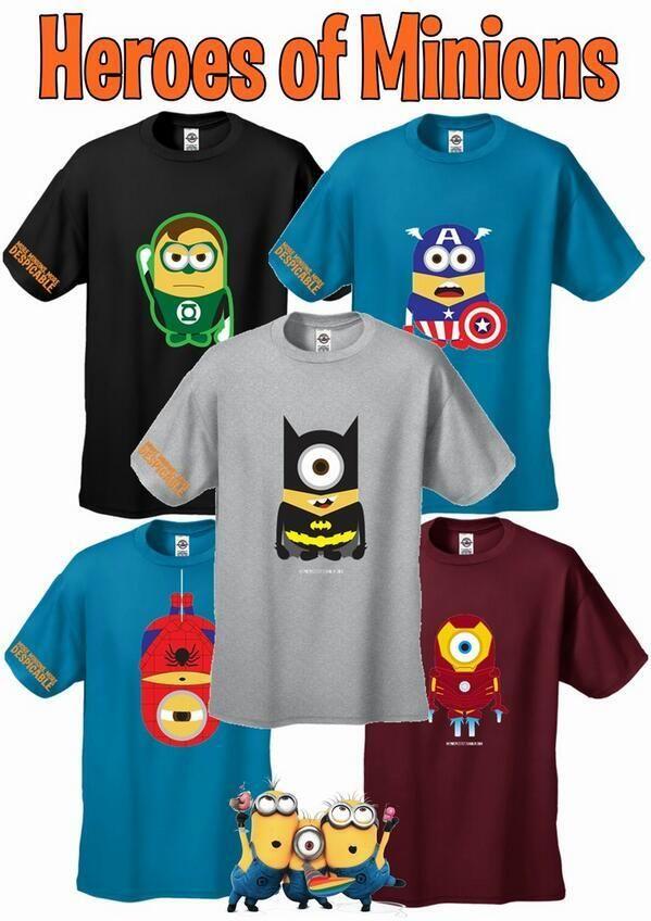 #Minions Superhero Minion shirts papoooooyyyy!!!! Baaaaahhhh!