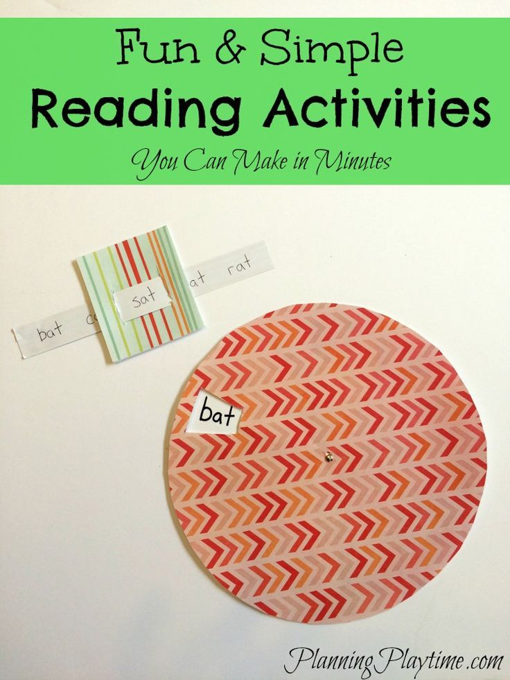 Fun & Easy Reading Activities for Kindergarten or first grade. #reading #activities