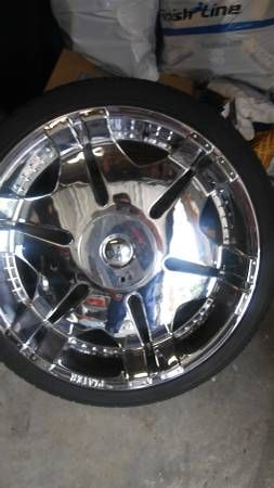 "22"" rims and tires (Lexington) $500"