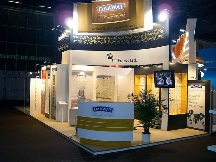 Trade show booth for Daawat at Sial. EDS Middle East has an expertise to provide full range of Exhibition and Trade Show solutions. Know about us http://www.expodisplayservice.ae/