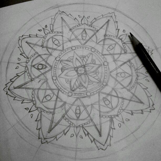 Sketching for mandala | Follow my IG: @hollananda